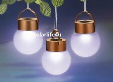 1PC Solar LED Hanging Ball Lantern Landscape Path Garden Outdoor Light New S