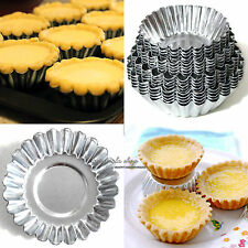 Aluminum Egg Tart Cupcake Cake Cookie Mold Lined Mould Tin Baking Tool 4 Size