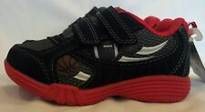 Carter's Toddler Boys Campeon Black/Red Light Up Sneakers Shoes MSRP: $36  *NEW*