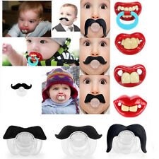 Baby Funny Dummy Prank Pacifier Novelty Teeth Children Lip Soother Nipple Cute V