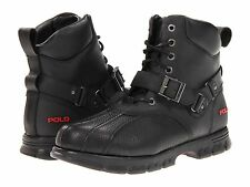 Polo Ralph Lauren Mens Feltwell Black Red Hiking Trail Winter Snow Shoes Boots