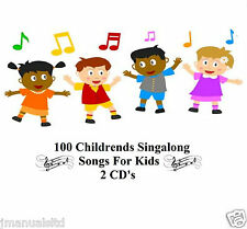 100 KIDS SINGALONG SONGS CHILDREN'S FAVORITES NURSERY RHYMES CHILDREN 2 CD'S