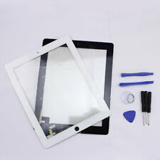 Touch Screen Glass Digitizer Replacement for Apple iPad 2 White Black + Tools
