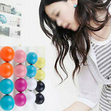 Popular 1 pair Lovely Cute Candy Colourful Disco Round Ball Earrings Ear Studs