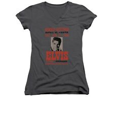 Elvis Presley Buffalo 1956 Juniors V-Neck T-Shirt