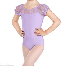 Girls Cotton Short Sleeve Ballet Dance Dress Kids Leotard Skate Costumes 3-12Y