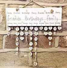 Writing - Birthday Reminder Plaque - Calendar Board Friends Family