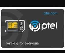 PTel Wireless Unlimited Talk/Text/Data No Contract Plan SIM Card &1st Month free