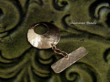 Artisan Bare Copper-Antique Copper Hammered Toggle 1""