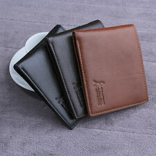 Men's Leather Wallet Card Holder Coin Purse Pockets Bifold Money Clip New