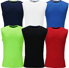 New Mens Breathable Vest Wicking Cool Dry Running Gym Top Sports Muscle Shirt