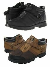 Polo Raulph Lauren Mens Conquest III Strap Zip-Up Low Hiking Trail Ankle Boots