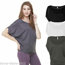 Ladies Long Top Tunic Dress Shirt mit Bat sleeves Size S M L XL in 3 colours