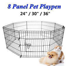 "24"" 30"" 36"" 8 Panel Pet Dog Play Pen Exercise Cage Puppy Enclosure Rabbit Fence"