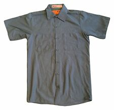 Red Kap Men's Industrial Work Shirt Postman Blue Short Sleeve [Many Sizes]