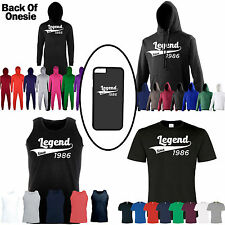 Personalised Birthday Legend Since 50th, 40th, 30th, 21st, 18th, 16th Any Age T-