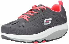 Skechers Shape-Ups 2 Grey Pink White Womens Trainers Shoes