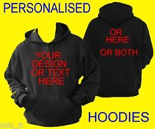 PERSONALISED HOODIES Custom Printed Kids Adults Hoodie Top Quality