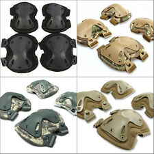Hot Sale 4PCS Adjustable Knee&Elbow Pad Tactical Airsoft Outdoor Protective Gear