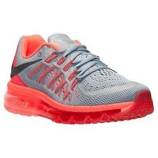 New ! Wmns Nike Air Max 2015 [698903 009] Gray-Crimson-Lava Running Sizes 7-11
