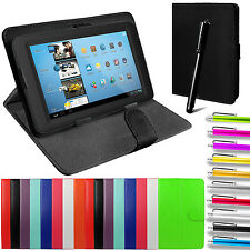 "Tablet Case Cover Universal PU Leather Pouch Stand Folding Folio All 7"" Tablets"