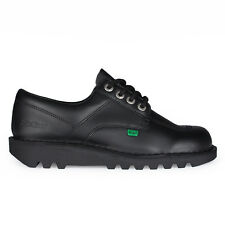 Adults Kickers Kick Lo Black Leather Shoes