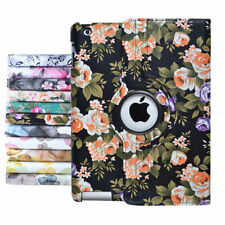 New Flower 360 Rotating Leather Case Smart Cover Stand For iPad Air 2 iPad 2 3 4