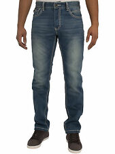 ETO Mens Mid Stone Wash Jeans With Saddle Stitching And Flap Pockets