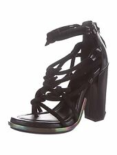 """STUNNING NEW SOLD OUT $650 ALEXANDER WANG """"TEMPEST"""" SUEDE/LEATHER KNOTTED HEELS"""