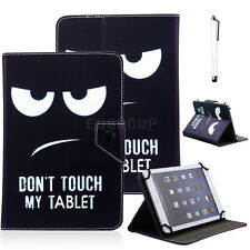 """Universal Don't Touch My Tablet Leather Case Cover For 7""""~ 7.9"""" Tablet PC + Pen"""