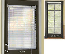White Easy Install Magnetic Window Blinds Shades For Steel Doors