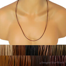 Brown Custom Leather Cord Necklace Your Size / Length to 30 inch. for pendant +