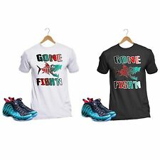 Gone Fishing Foam T Shirt Custom Tee Nike Air Foamposite One Emerald Black Red