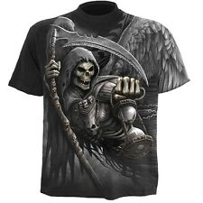 Spiral Death Angel Wrap Allover T-Shirt Black [Special Order] - Gothic,Goth,Allo