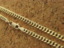 Real 14Kt Yellow Gold 2mm  Solid CURB cuban Chain Necklace 14k real gold