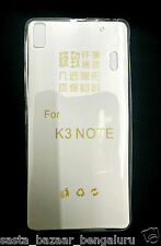 FOR LENOVO K3 NOTE 0.3 mm PLAIN TRANSPARENT SOFT CLEAR BACK CASE COVER