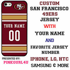 Custom San Francisco 49ers  Phone Case Cover w Your Name & Jersey Number IPhone