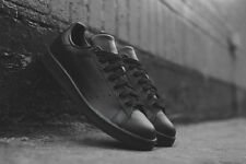 Mens Adidas Stan Smith Originals Classic Sneakers New, Black Leather M20327
