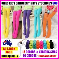 GIRLS KIDS TIGHTS STOCKINGS LEG PANTYHOSE HOSIERY OPAQUE 80 BALLET DANCE - S,M,L