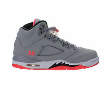 Girls Air Jordan 5 V Retro GS Hot Lava Wolf Grey Black White 440892-018