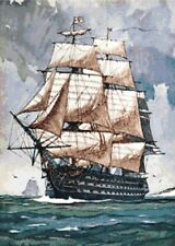 The Victory ~ Sailing Ships, Seascapes ~ Counted Cross Stitch Chart Pattern