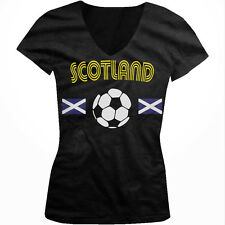 Scotland Scottish National Country Pride Soccer Football Juniors V-neck T-shirt
