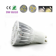 10pcs GU10 LED 9W bulb indoor Energy lamp spotlight home 3X3W power White lamp