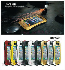 Durable Gorilla Glass Aluminum Metal Shock/Water Proof Case For iPhone 4 5S 5C