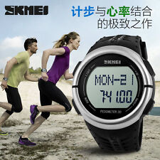 Sport Men's Heart Rate Monitor Pulse Pedometer Calories Counter Fitness Watches
