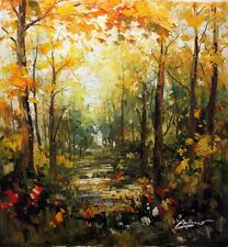 Original Oil Painting art on Canvas French Impressionism Landscape Stretched