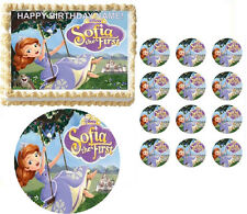 Sofia the First Swinging Party Edible Cake Topper Frosting Sheet - All Sizes!