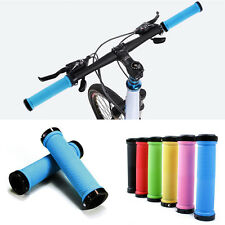 Newest 1 Pair Cheap Cycling Bicycle Bike Locking Handle Grips Rubber Handlebars
