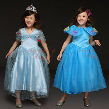 Cinderella Princess Gown Child Costume Girls Xmas Party Formal Fancy Dress Up