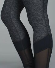 Lululemon NWT If You're Lucky Pant sz 6 Mesh Tech Tight Grey Wunder Under